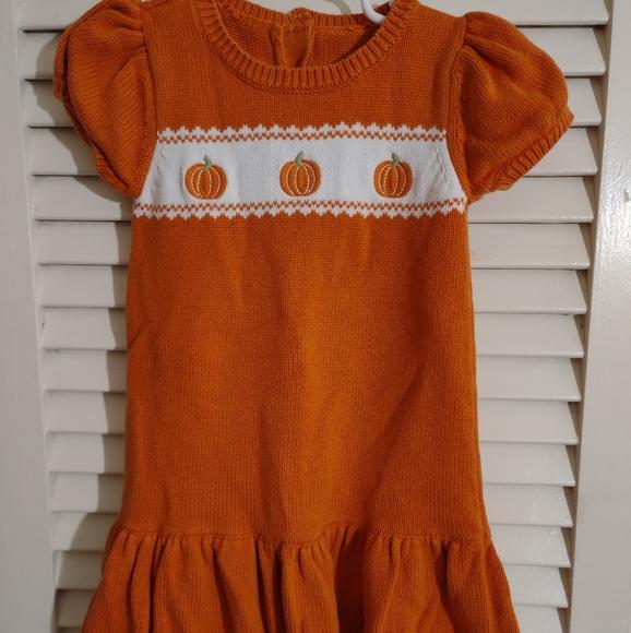 Girl's Knit Fall Pumpkin Dress size 2T